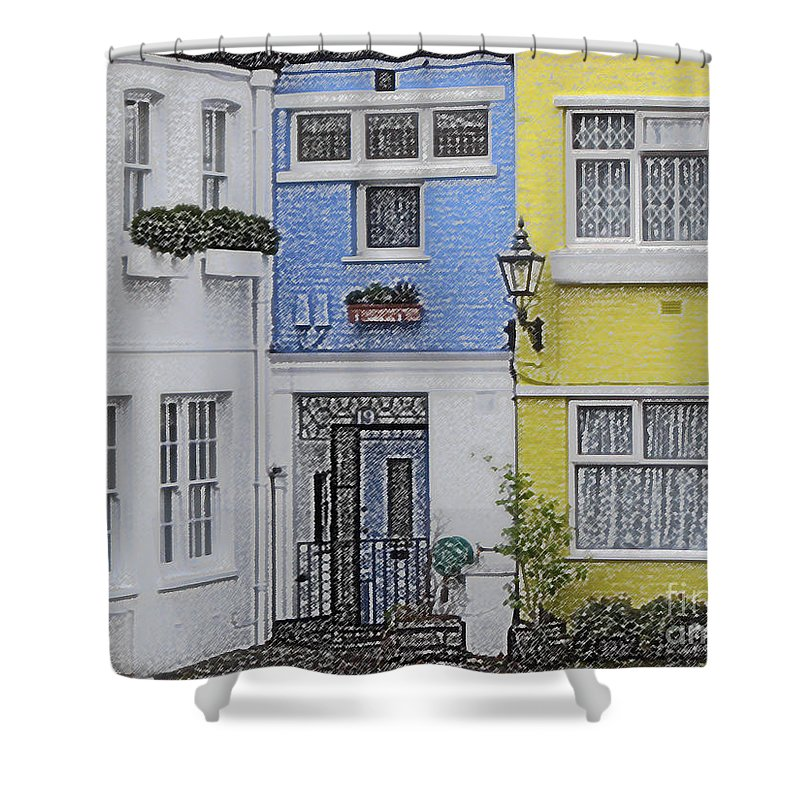 House Shower Curtain featuring the photograph Houses by Amanda Barcon