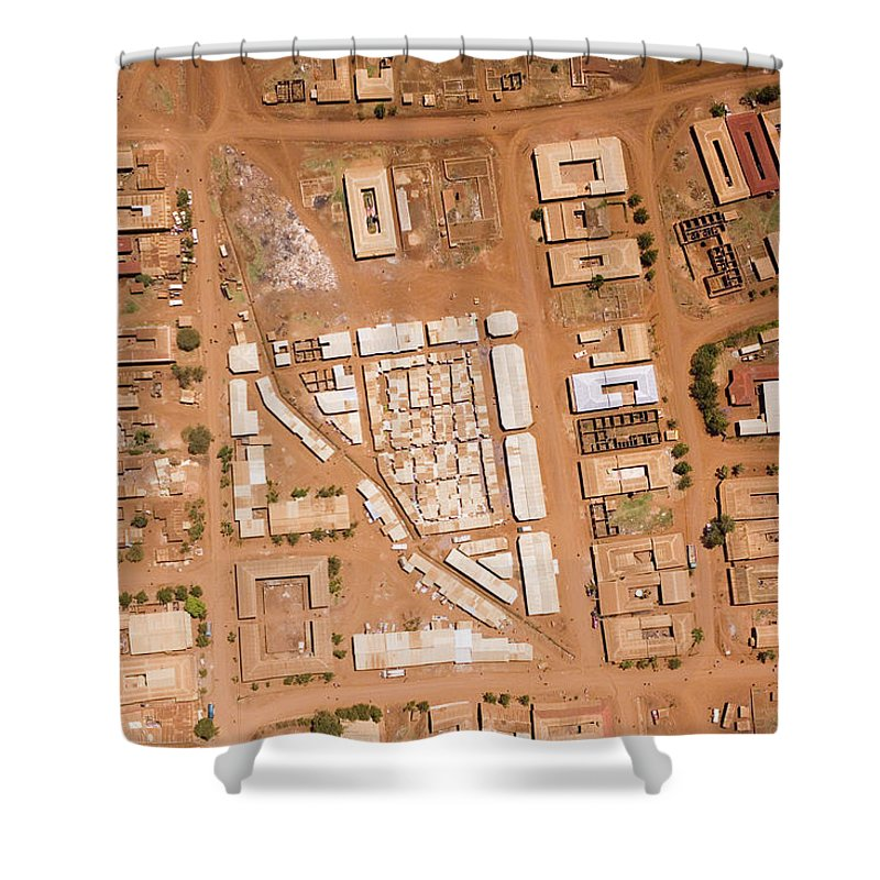 Landscape Shower Curtain featuring the photograph Houses With Central Courtyards by Michael Fay