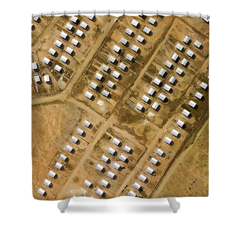 Africa Shower Curtain featuring the photograph Housing Development For Previously by Michael Fay