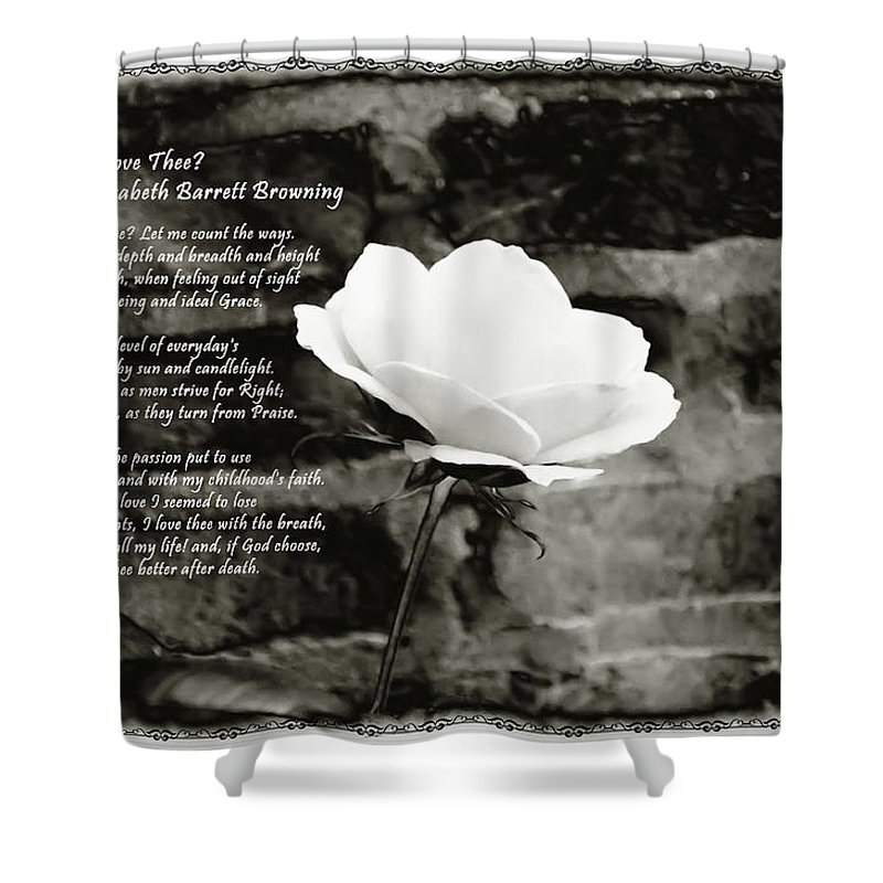 How Do I Love Thee Shower Curtain featuring the photograph How Do I Love Thee by Bill Cannon