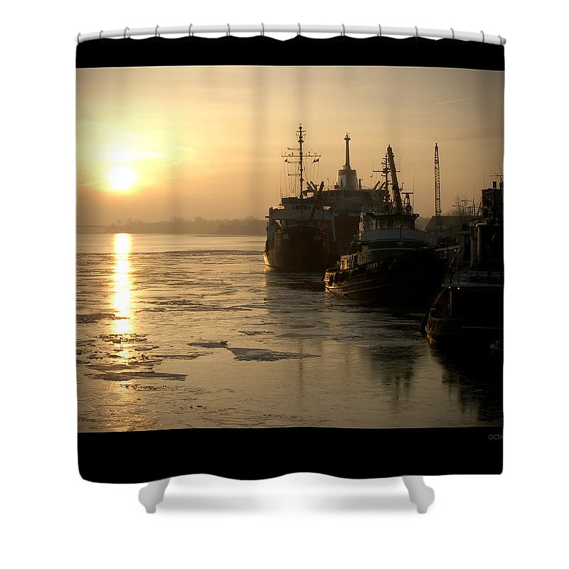 Boat Shower Curtain featuring the photograph Huddled Boats by Tim Nyberg
