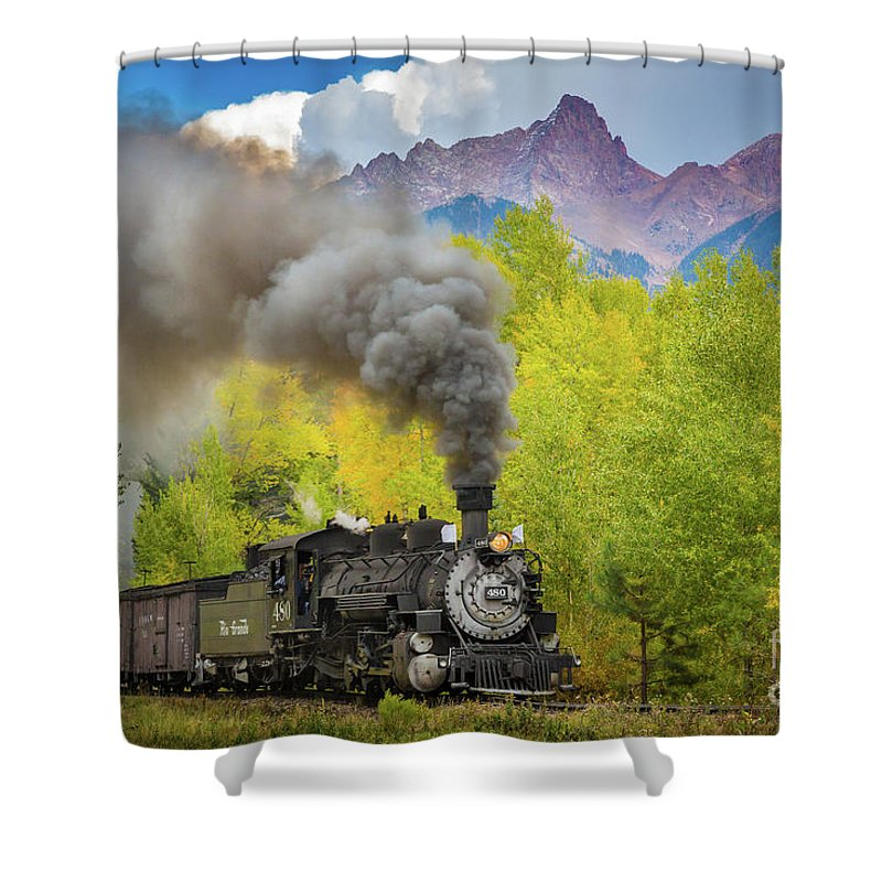 America Shower Curtain featuring the photograph Huffing And Puffing by Inge Johnsson