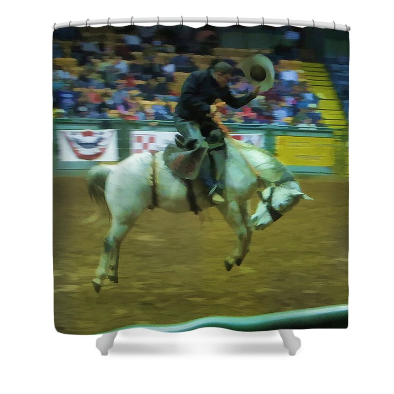 Rodeo Shower Curtain featuring the photograph Humble by Douglas Barnard