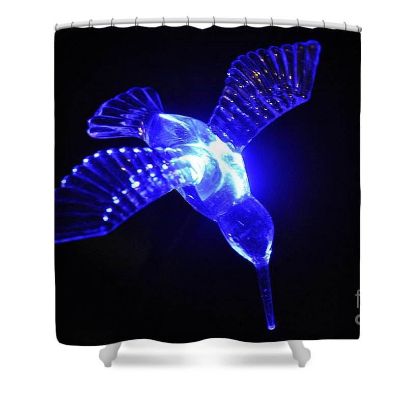 Clay Shower Curtain featuring the photograph Humming Bird Light by Clayton Bruster