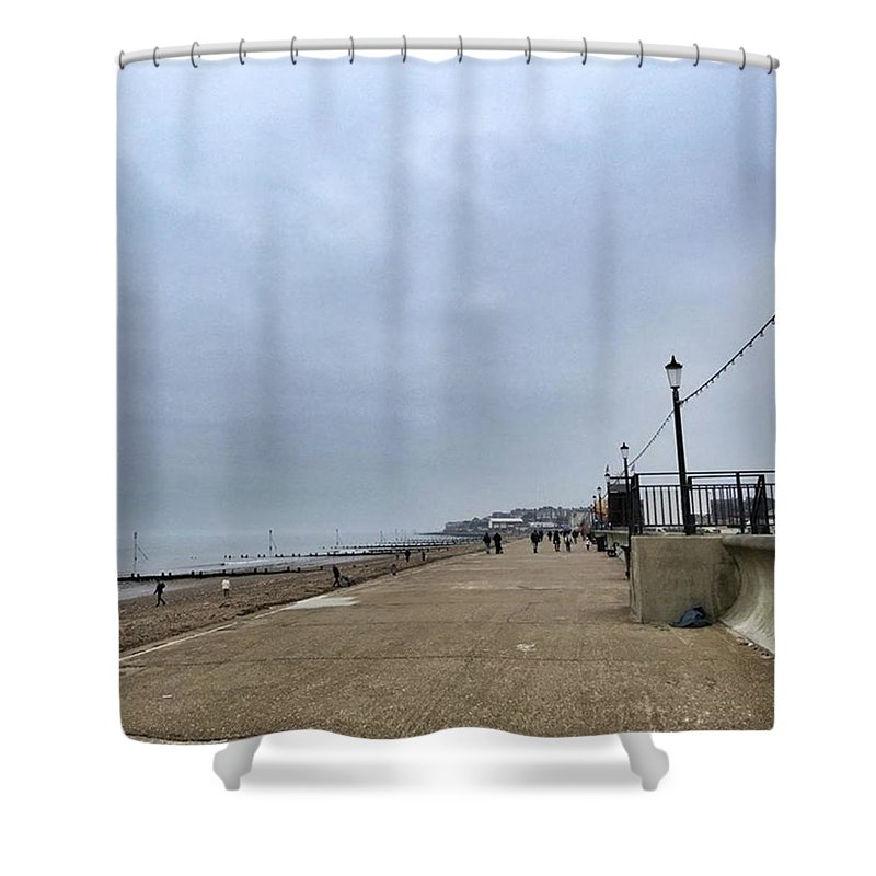 Beautiful Shower Curtain featuring the photograph Hunstanton At 4pm Yesterday As The by John Edwards