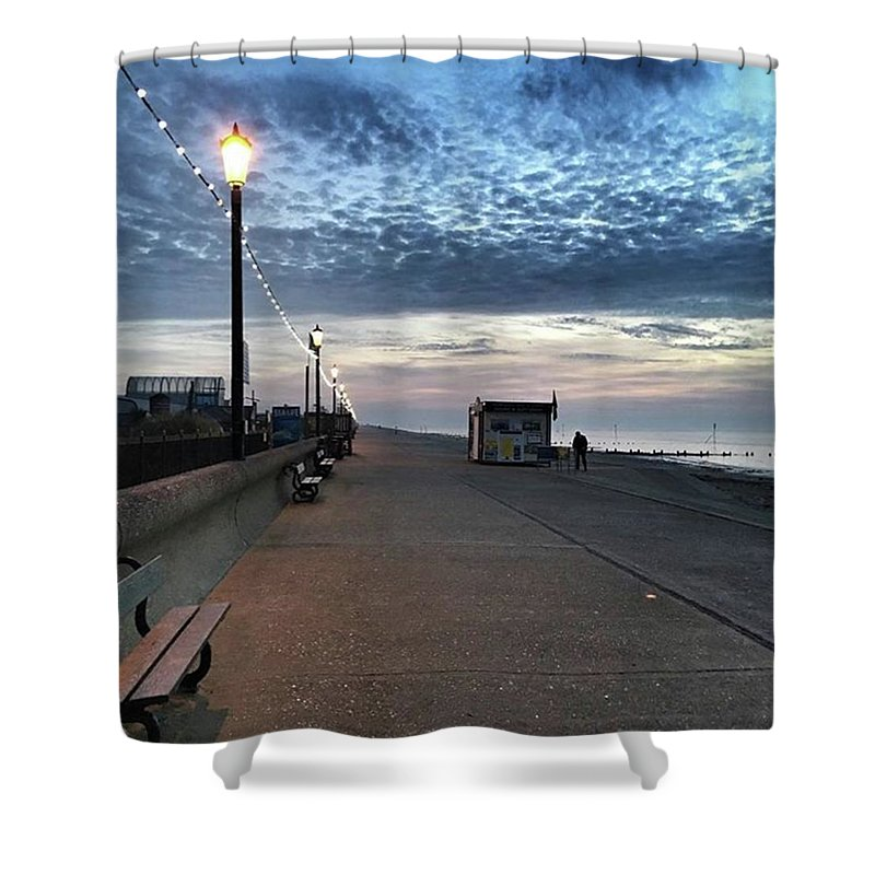 Beautiful Shower Curtain featuring the photograph Hunstanton At 5pm Today  #sea #beach by John Edwards