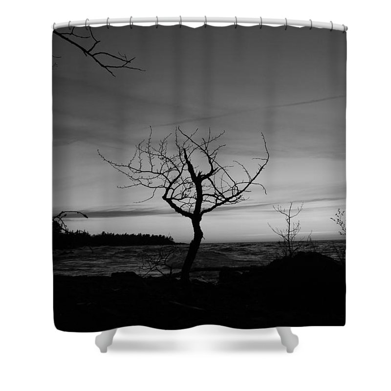 Pure Shower Curtain featuring the photograph Hunters Point by Two Bridges North