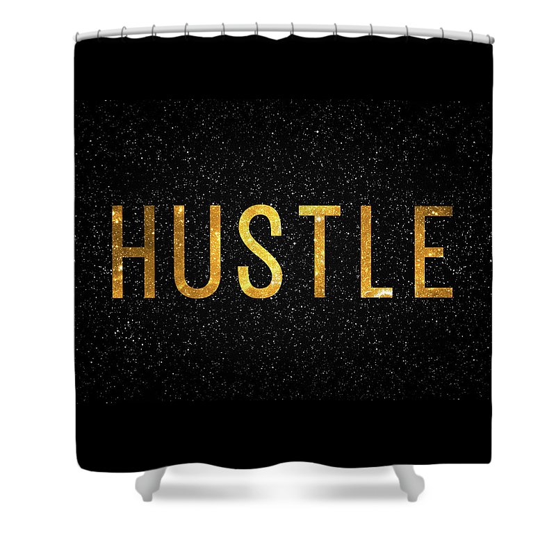 Hustle Shower Curtain featuring the digital art Hustle by Zapista OU