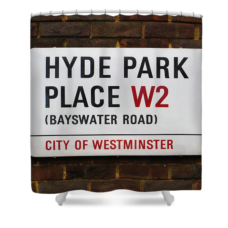 London Shower Curtain featuring the photograph Hyde Park Place by Osvaldo Hamer