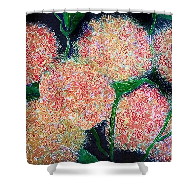 Pink Hydrangea Shower Curtain featuring the photograph Hydrangea Inspiration by Anne Sands
