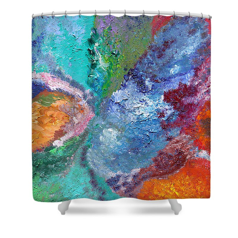 Fusionart Shower Curtain featuring the painting Hydrangea by Ralph White