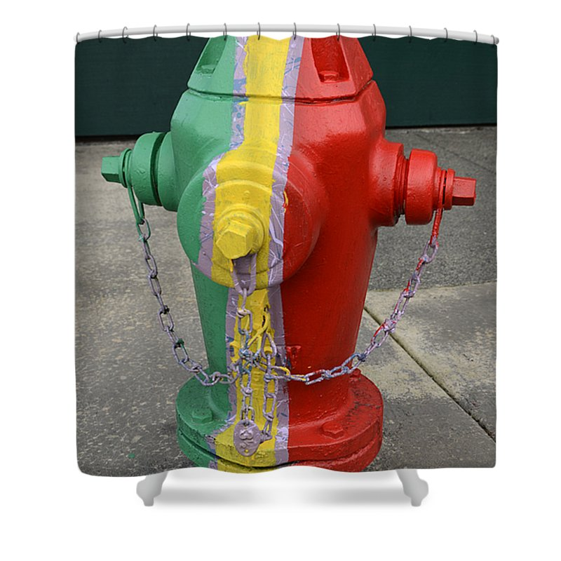 Fire Shower Curtain featuring the photograph Hydrant With A Facelift by Bob Christopher