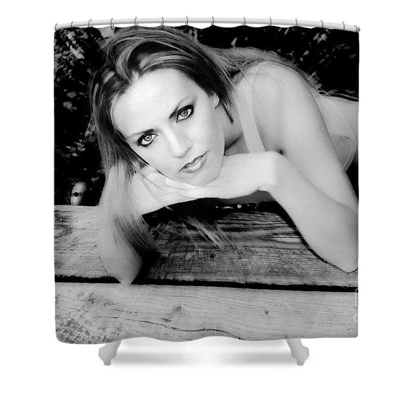 Clay Shower Curtain featuring the photograph Hypnotic Eyes by Clayton Bruster