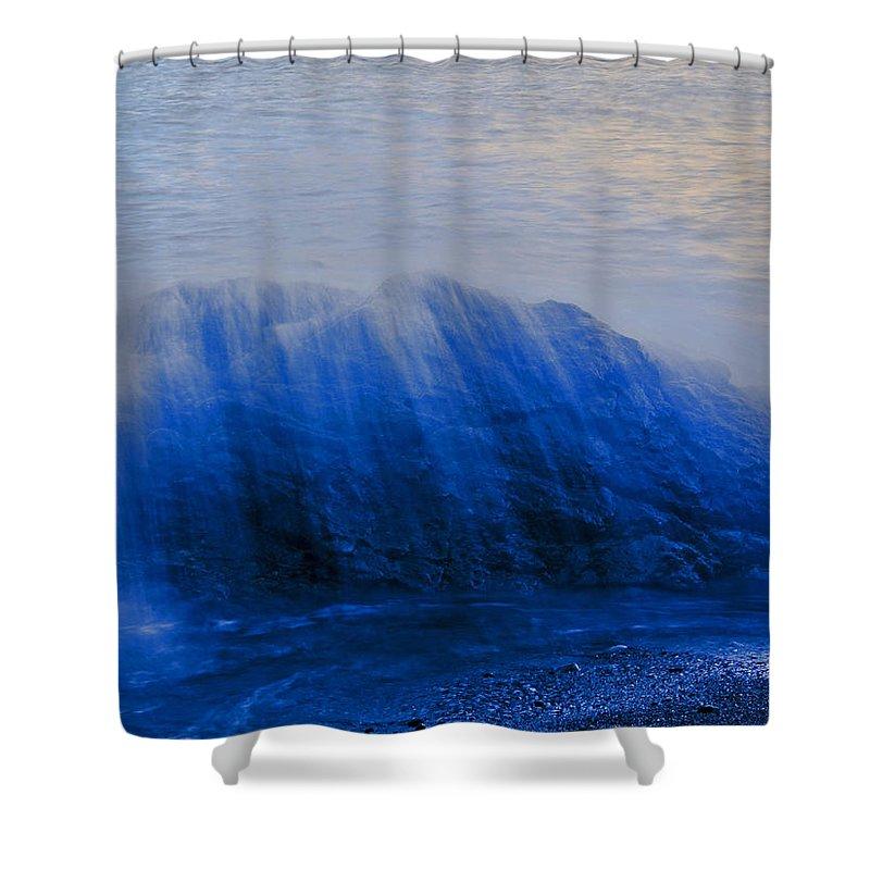 Crete Shower Curtain featuring the photograph I Am A Rock by Casper Cammeraat