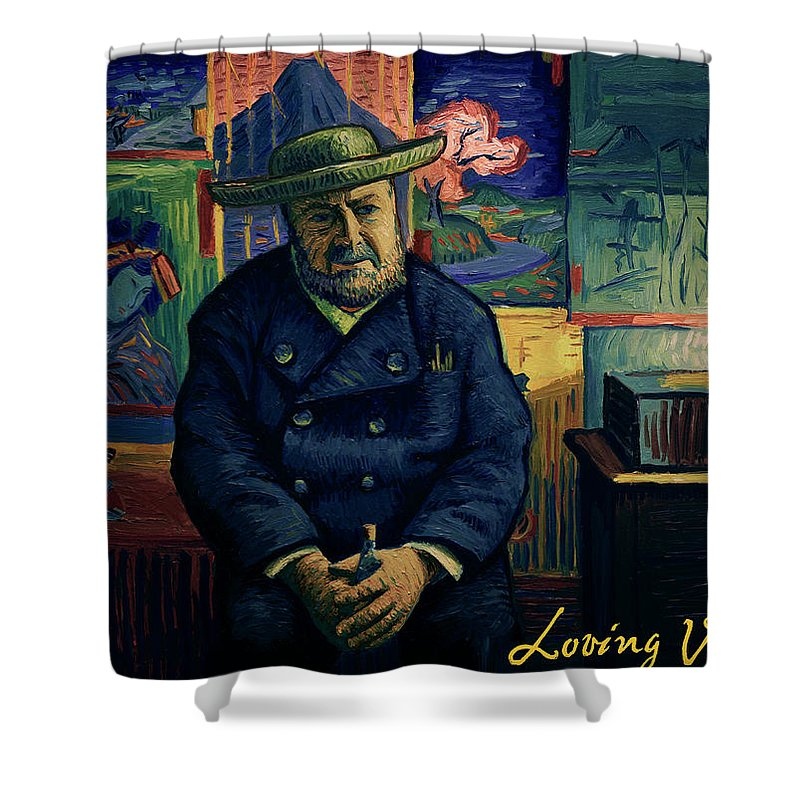Shower Curtain featuring the painting I Am Afraid You Will Never Deliver That Letter To Theo Van Gogh by Jakub Podlodowski