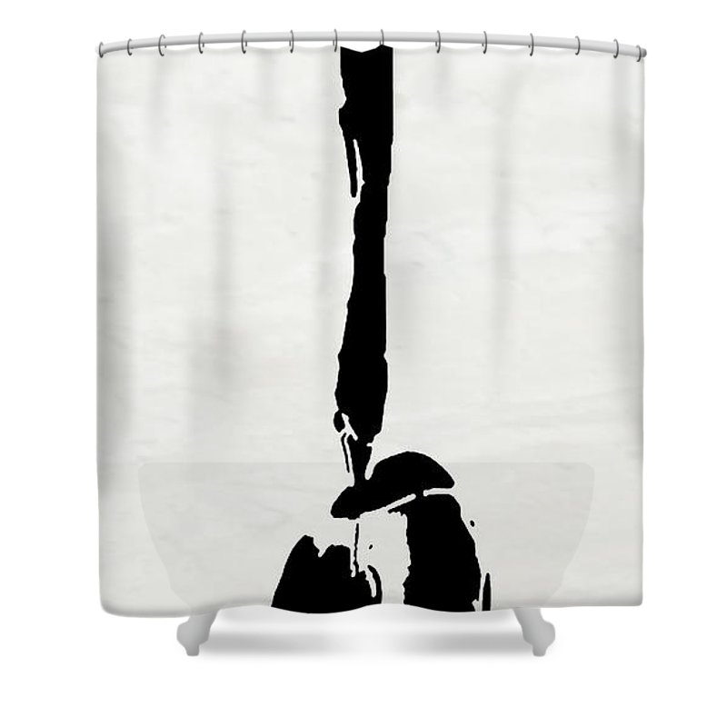 Abstract Shower Curtain featuring the digital art I Am Here by Ken Walker