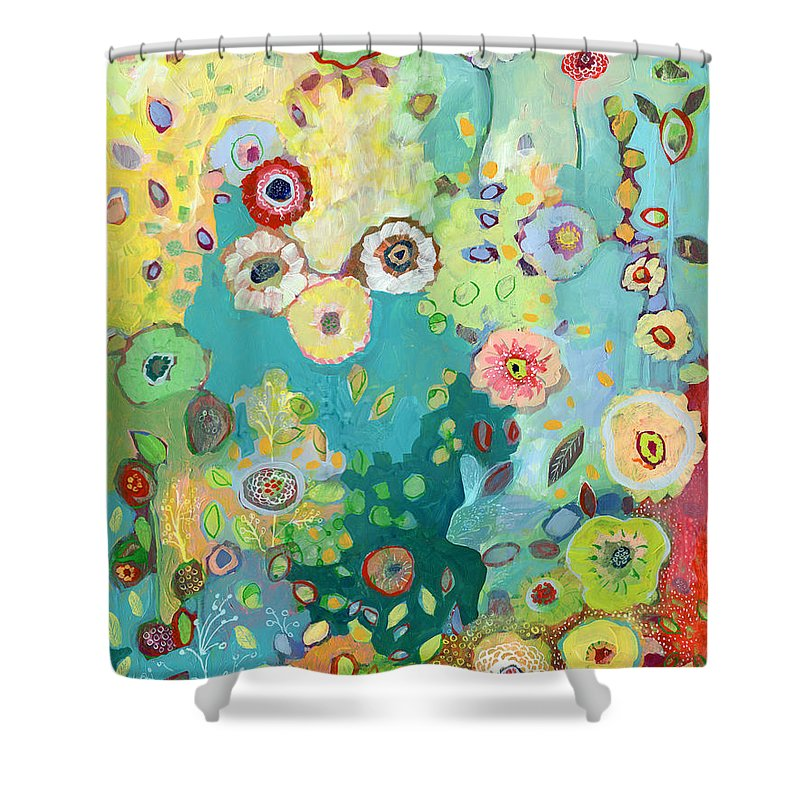 Floral Shower Curtain featuring the painting I Am by Jennifer Lommers
