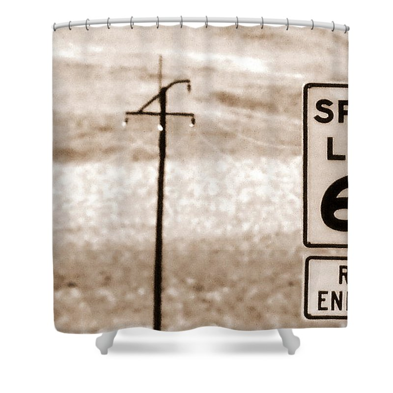 Desert Shower Curtain featuring the photograph I Can't Drive 55 by Ed Smith