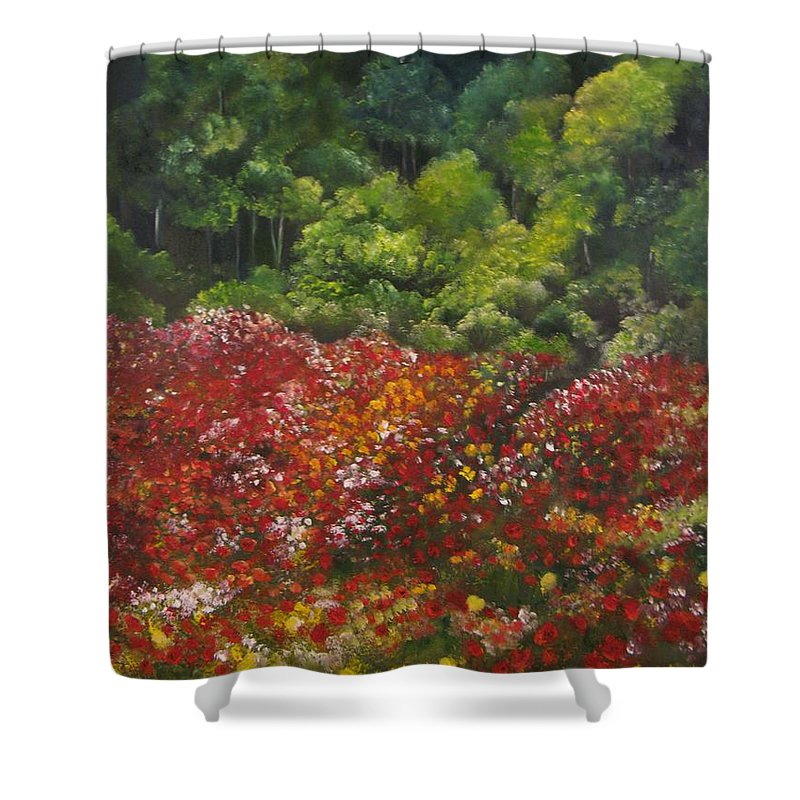 Poppies Shower Curtain featuring the painting I Dream Of Poppies by Carol Sweetwood