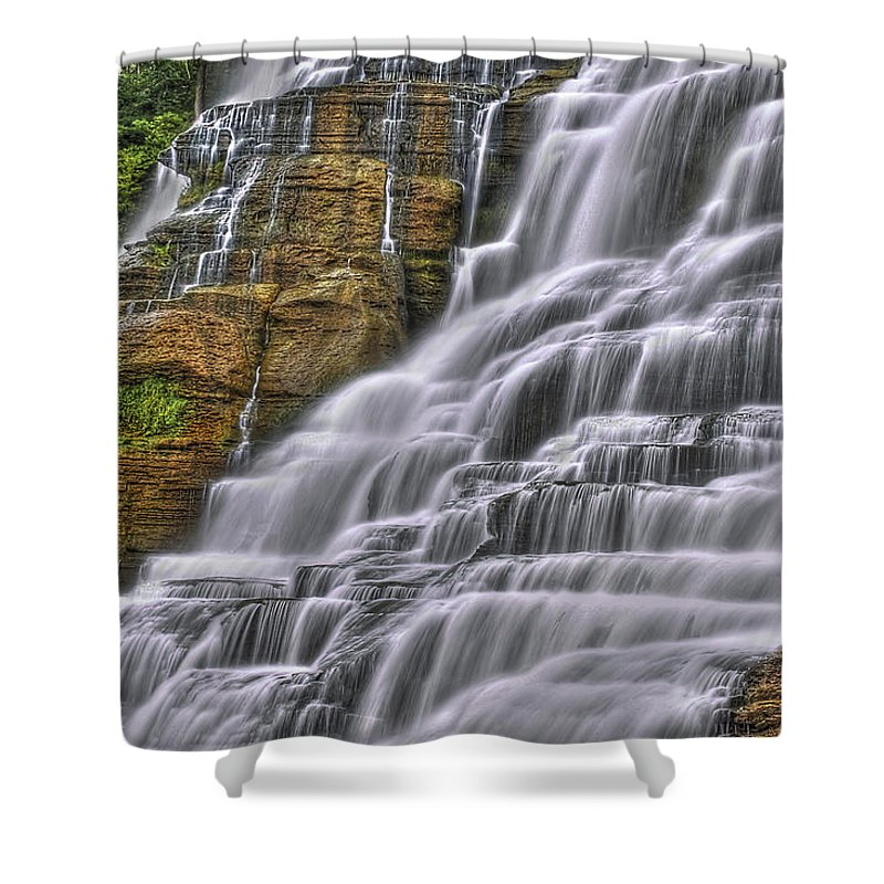 Blur Shower Curtain featuring the photograph I Fall For You by Evelina Kremsdorf