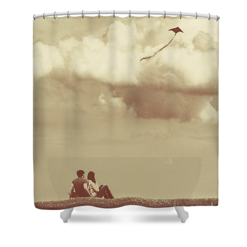 Dipasquale Shower Curtain featuring the photograph I Had A Dream I Could Fly From The Highest Swing by Dana DiPasquale