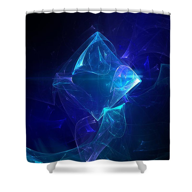 Abstract Digital Photo Shower Curtain featuring the digital art I Had Too Much To Dream Last Night by David Lane