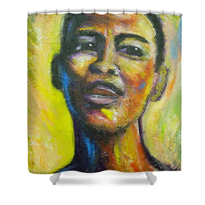 Intensity Shower Curtain featuring the painting I by Jan Gilmore