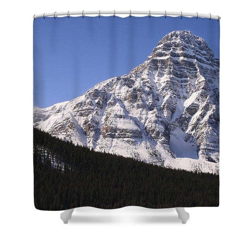Rocky Mountains Shower Curtain featuring the photograph I Love The Mountains Of Banff National Park by Tiffany Vest