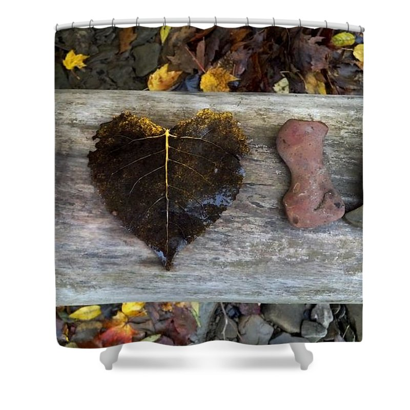 Love Shower Curtain featuring the photograph I Love You by Jeff Paul