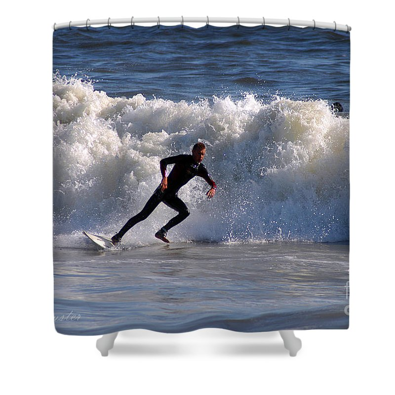 Clay Shower Curtain featuring the photograph I Quit by Clayton Bruster