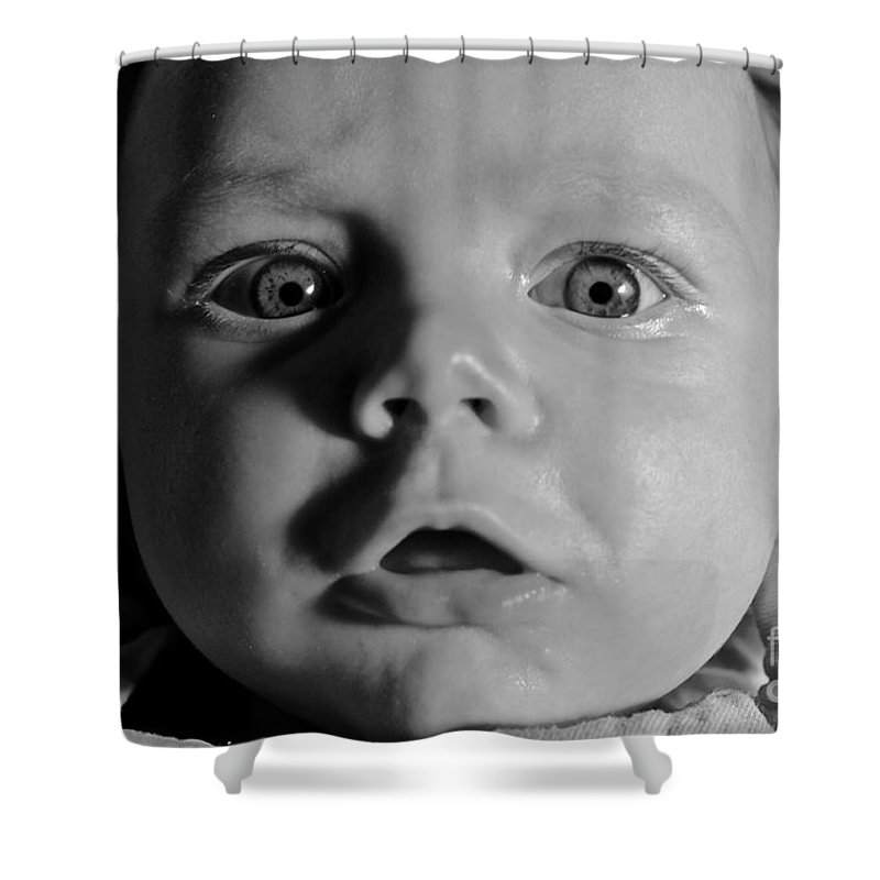 Baby Shower Curtain featuring the photograph I See You by Peter Jamieson