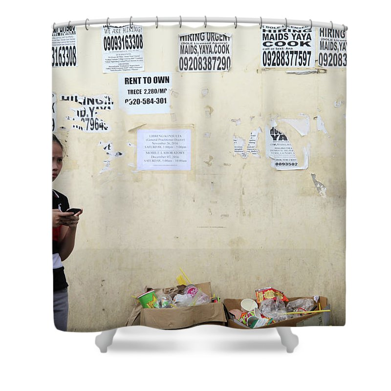 Cavite Shower Curtain featuring the photograph I Still Believe That One Of These Could Be A Real Job by Jez C Self
