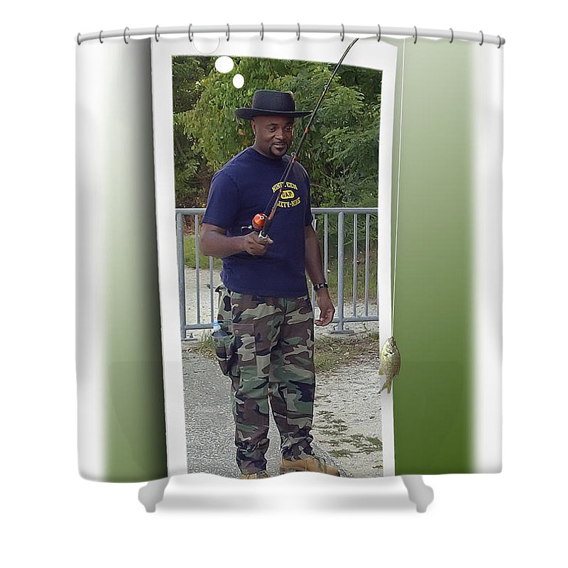 2d Shower Curtain featuring the photograph I Thought It Was Bigger by Brian Wallace