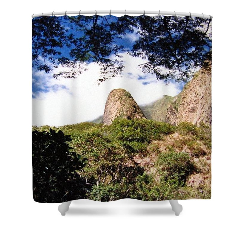 1986 Shower Curtain featuring the photograph Iao Valley by Will Borden
