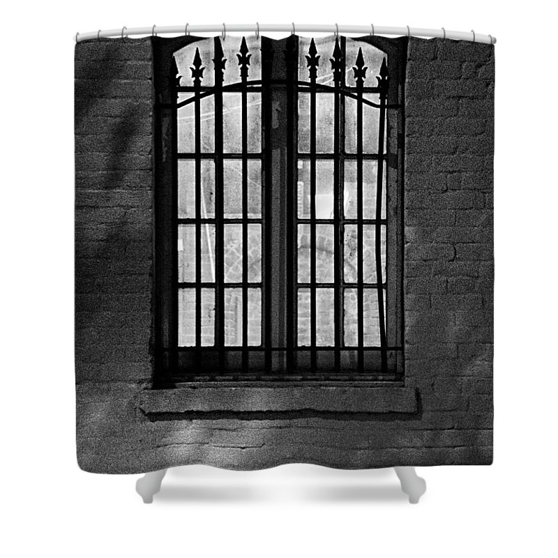 Windows Shower Curtain featuring the photograph Iberville Shadows by Lynn Terry