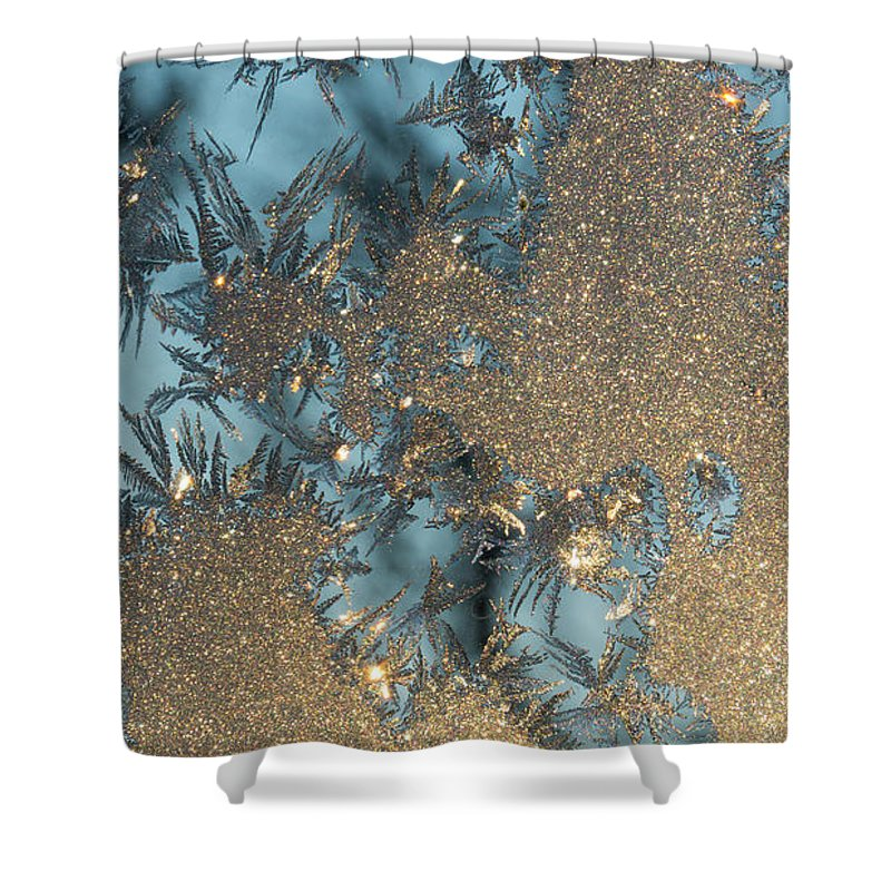 Cold Shower Curtain featuring the photograph Ice Art by Tamara Sushko