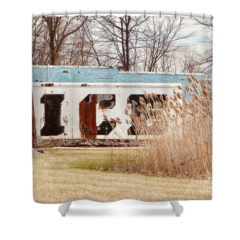 Ice Box Shower Curtain featuring the photograph Ice Box by Michael Krek