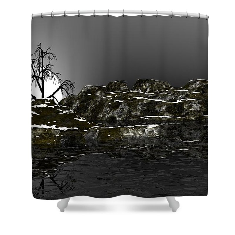 Fine Art Shower Curtain featuring the digital art Ice Cold by David Lane