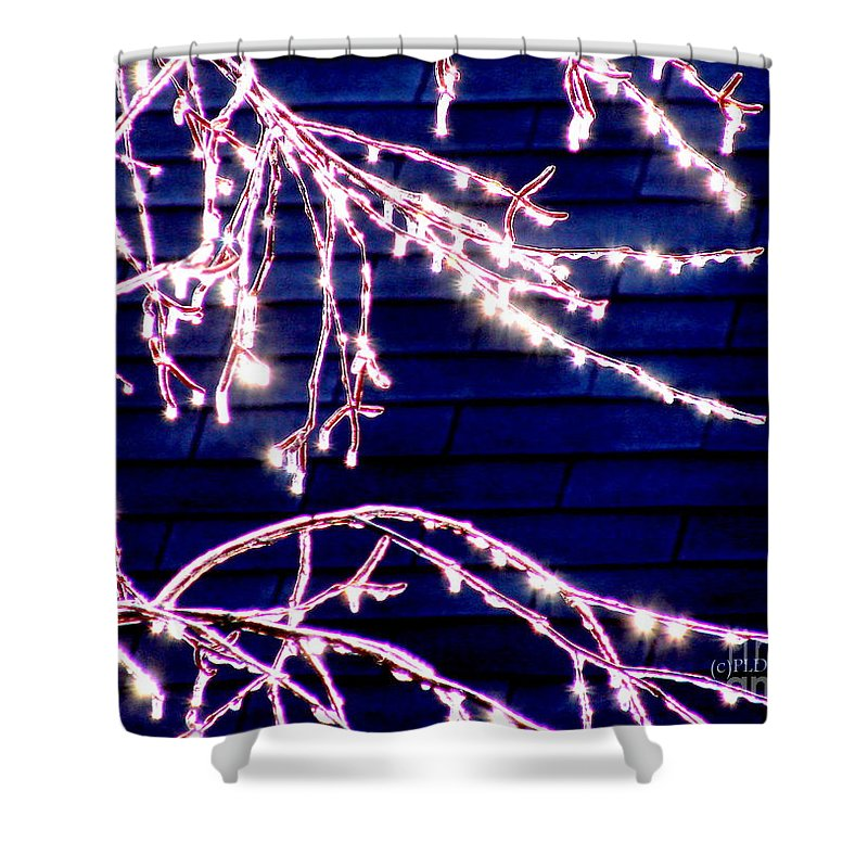 Ice Storm Shower Curtain featuring the photograph Ice Crystal Diamonds In The Sun by Patricia L Davidson