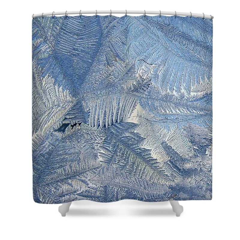 Ice Shower Curtain featuring the photograph Ice Crystals by Rhonda Barrett