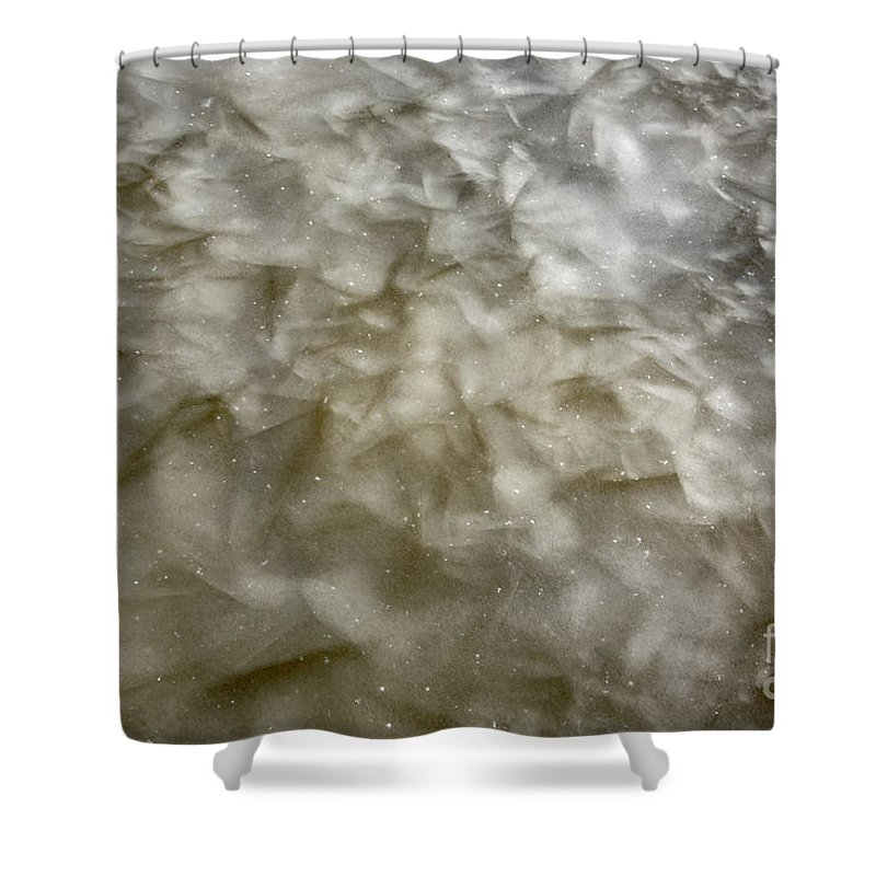 Ice Shower Curtain featuring the photograph Ice Formations During The Winter Months by Erin Paul Donovan