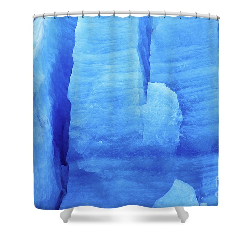 Glacier Shower Curtain featuring the photograph Ice Formations by James Brunker