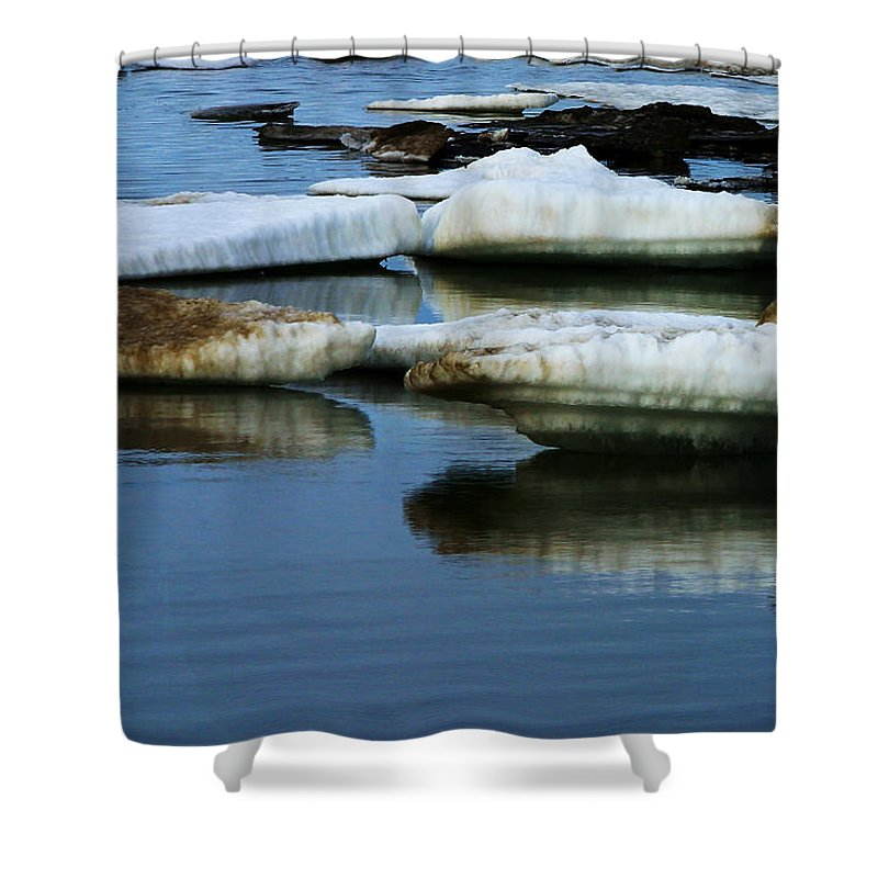 Ice Shower Curtain featuring the photograph Ice In The Arctic by Anthony Jones
