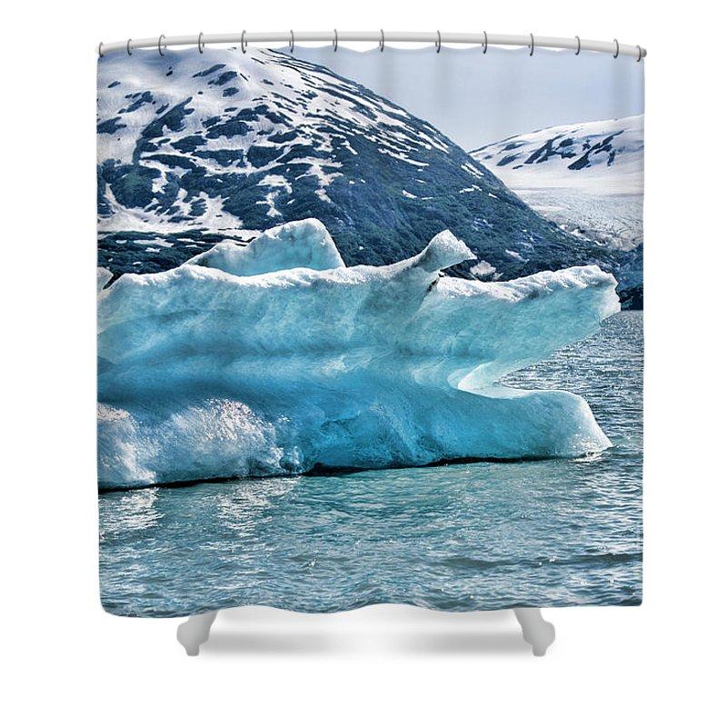 Alaska Shower Curtain featuring the photograph Iceberg Glacier Alaska by Chuck Kuhn