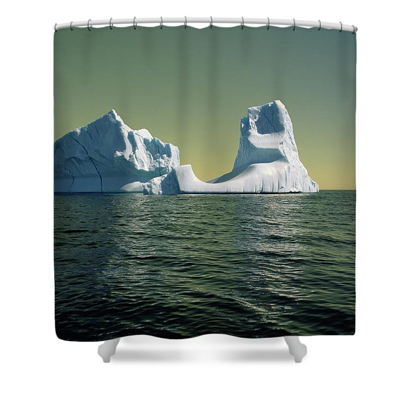 00342146 Shower Curtain featuring the photograph Iceberg in the Labrador Sea by Yva Momatiuk John Eastcott