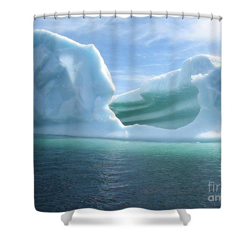 Photograph Iceberg Ocean Summer Newfoundland Shower Curtain featuring the photograph Iceberg by Seon-Jeong Kim