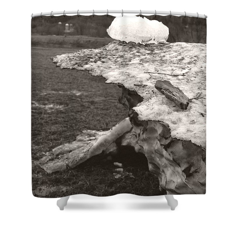 Shower Curtain featuring the photograph Iceberg Silo by Heather Kirk