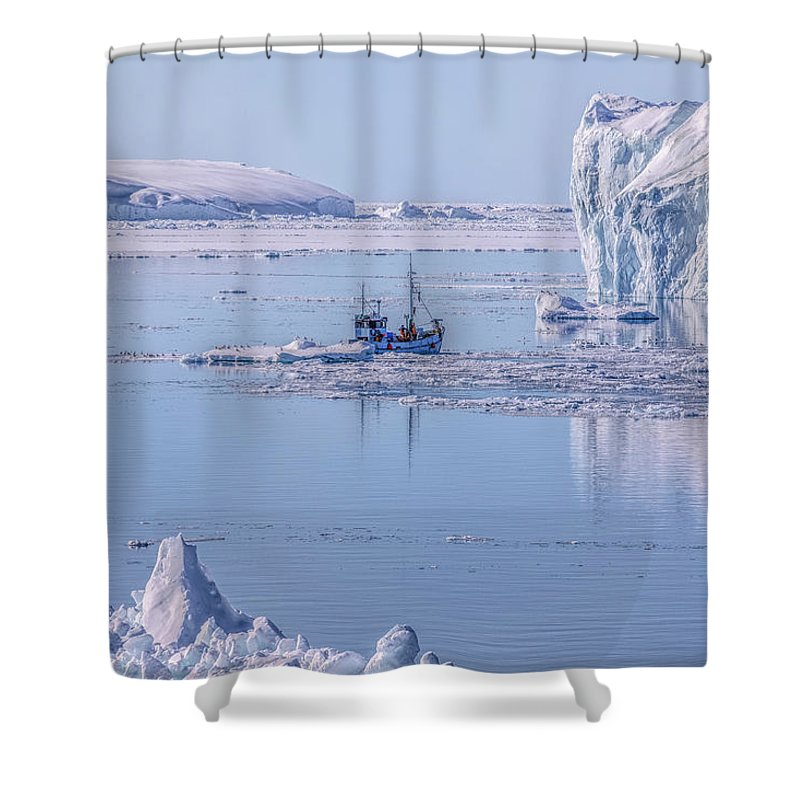 Ilulissat Shower Curtain featuring the photograph Icefjord In Greenland by Joana Kruse