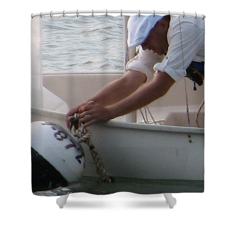 Sailboat Shower Curtain featuring the photograph Icey Fingers by Kelly Mezzapelle