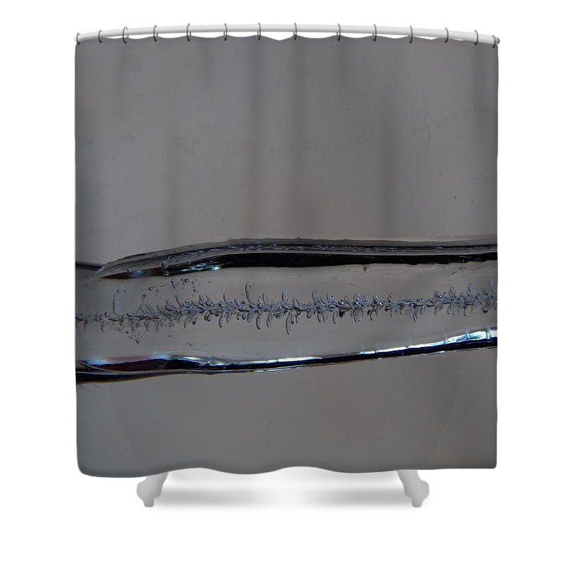 Icicle Shower Curtain featuring the photograph Icicle Patterns by Kristina Lammers